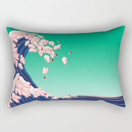 Christmas Baby Pigs The Great Wave Rectangular Pillow