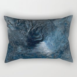 Blue Path Rectangular Pillow