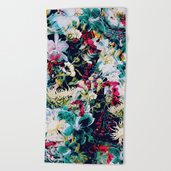 RPE ABSTRACT FLORAL -IV Beach Towel