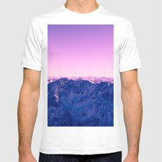 Pink Mountains #society6 #photography MEDIUM White Mens Fitted Tee