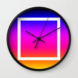 White Box Wall Clock