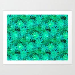 Woodruff in Blue & Green - IA Art Print
