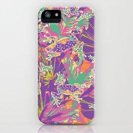 Tropical summer rainforest party iPhone Case