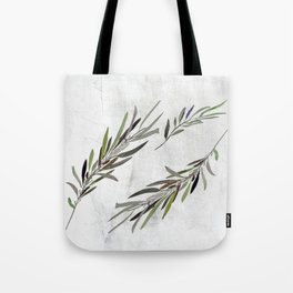 Eucalyptus Leaves White Tote Bag