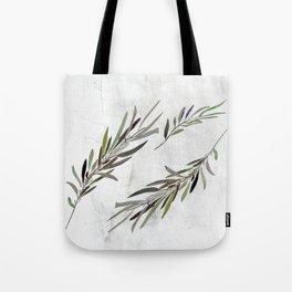 Eucalyptus Leaves White Tote Bag
