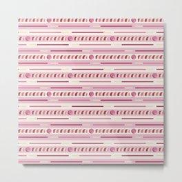 Strawberry Cookie Sticks Horizontal Metal Print