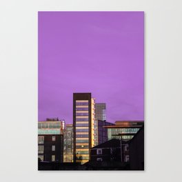 Dublin - Purple sky Canvas Print