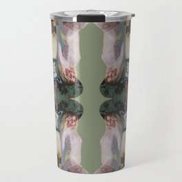 God Save The Queen - army green collage Travel Mug