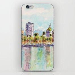 Long Beach Coastline Reflections iPhone Skin
