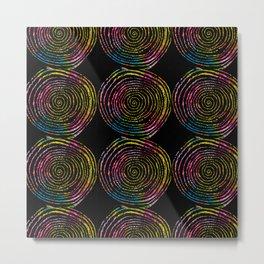 Spirals of Fire Metal Print