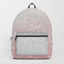 Blush Gray Princess Glitter #1 (Faux Glitter - Photography) #shiny #decor #art #society6 Backpack
