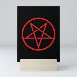 Satanic Pentagram (blood edit) Mini Art Print