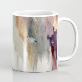 Gentle Beauty [4] - an elegant acrylic piece in deep purple, red, gold, and white Coffee Mug