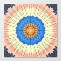 Textured Mandala Circles Canvas Print
