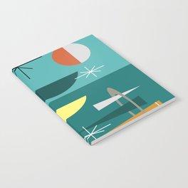 Turquoise Mid Century Modern Notebook