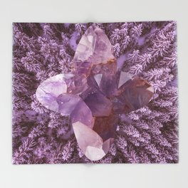 Amethyst Forest Throw Blanket