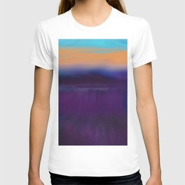 Lake View On A Foggy Morning in Violet, Blue and Orange 2 T-shirt