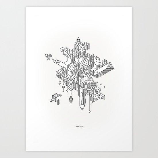 HABITATS Art Print