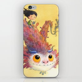 The Girl and the Book iPhone Skin