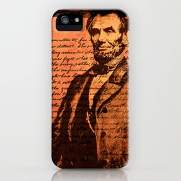 Abraham Lincoln and the Gettysburg Address iPhone Case