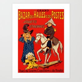 French Vintage Poster Art Print