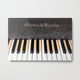 Antique Mason & Hamlin Piano Metal Print