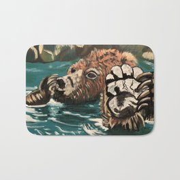 Chill Bear by Noelle's Art Loft Bath Mat