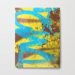 Graffiti Street Art Modern Abstract Design Metal Print