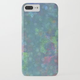 Blue and green abstract painting iPhone Case