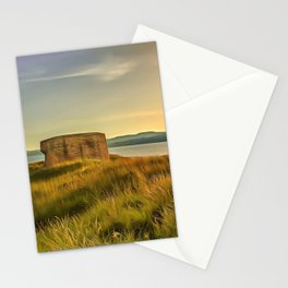 Martello Tower at Magilligan, Ireland. (Painting) Stationery Cards