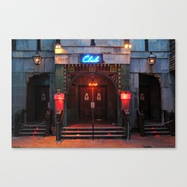 House of Blues Club at Twilight Canvas Print