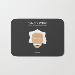 Lab No. 4 - Albert Einstein Inspirational Quotes Typography Poster Bath Mat