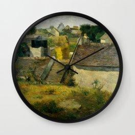 "Paul Gauguin ""Houses at Vaugirard"" Wall Clock"