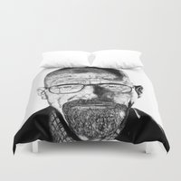 walter white Duvet Covers featuring Walter White by Creative Stace