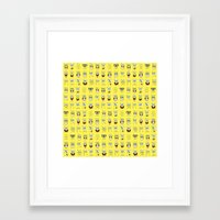 spongebob Framed Art Prints featuring spongebob  , spongebob  games, spongebob  blanket, spongebob  duvet cover by ira gora