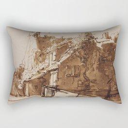 Dutch Farmhouse in Sunlight Rectangular Pillow