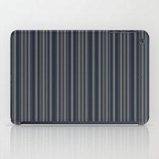 Steel Blue Double Stripes iPad Case