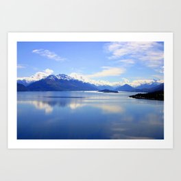 New Zealand Lake Digitized to Oil Effect Art Print