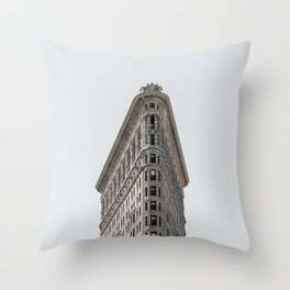 Flatiron Building New York City Throw Pillow