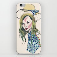 kate moss iPhone & iPod Skins featuring Kate Moss by Sindecualo