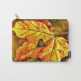 BOKEH AUTUMN LEAF & HEART Carry-All Pouch