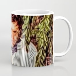 Eating Cake in a Bush with Johnny Cash Portrait Painting by Jeanpaul Ferro Coffee Mug