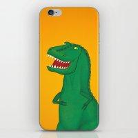 t rex iPhone & iPod Skins featuring T-Rex by Yana Elkassova