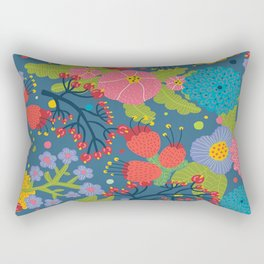 Color Flowers Rectangular Pillow