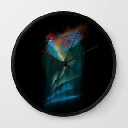 Aurora bird Wall Clock
