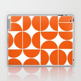 Mid Century Modern Geometric 04 Orange Laptop & iPad Skin