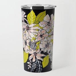 Black bouquet of flowers, no. 25, watercolor illustration Travel Mug