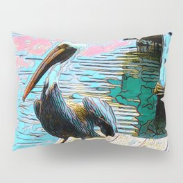 Pelican at the Harbor Pillow Sham