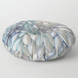 Movement in Blue Floor Pillow