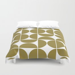 Mid Century Modern Geometric 04 Flat Gold Duvet Cover